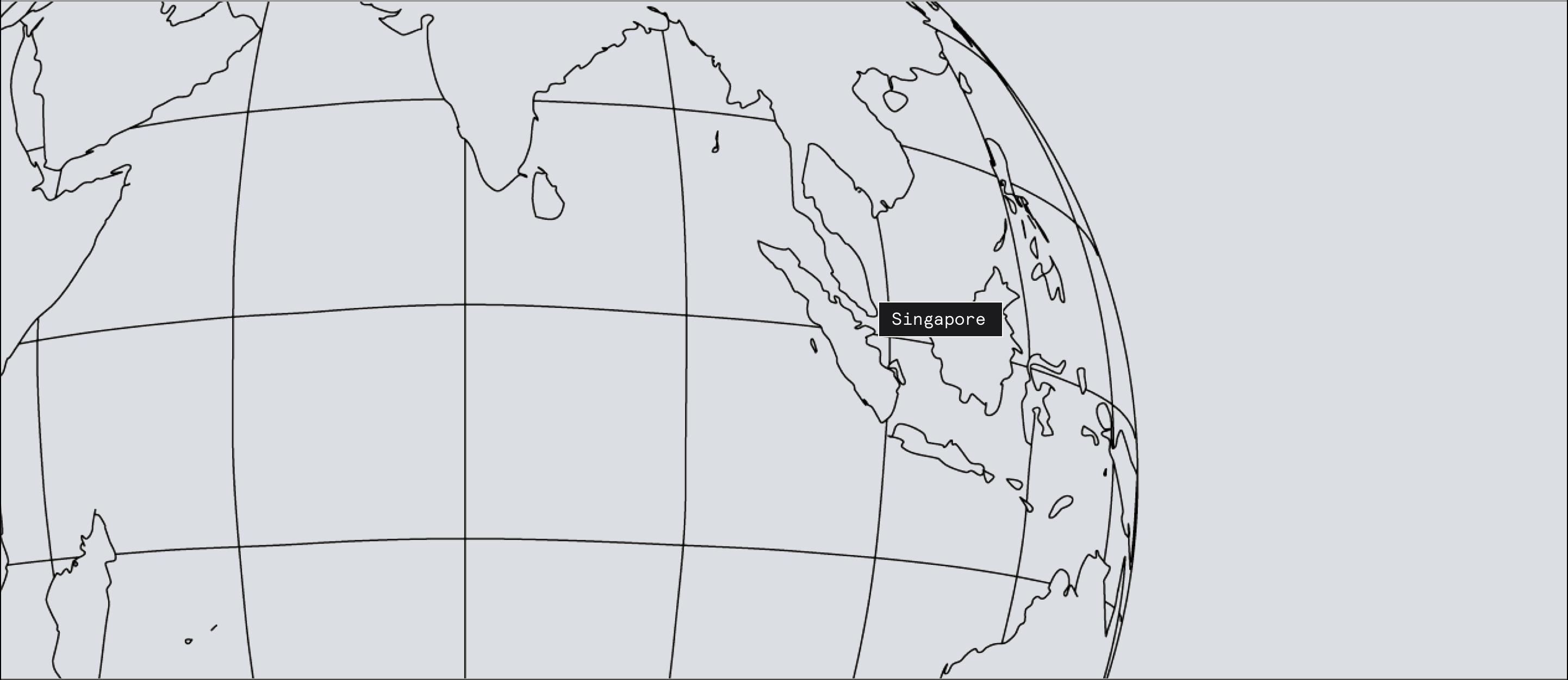 Singapore on map