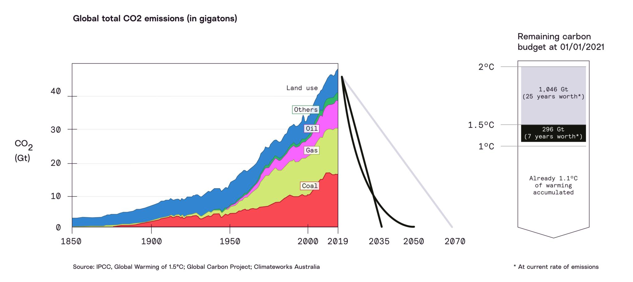 Carbon budget chart