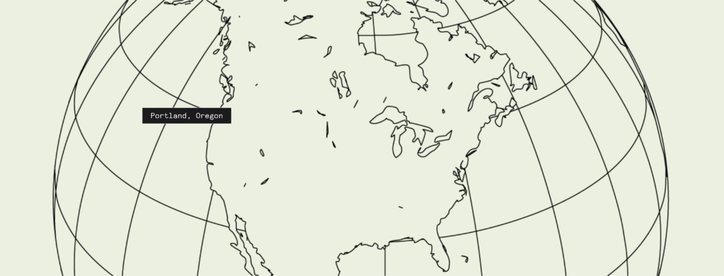 Portland pinpoint on illustrated map